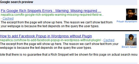 How to : Google Authorship Rich snippet in Worpress Multi-Author site