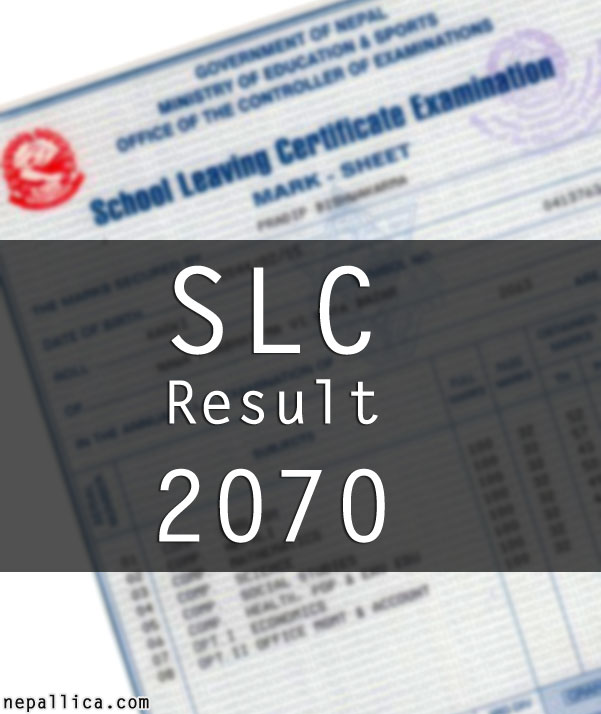 SLC Result 2070 , Find it here